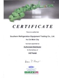 Certificate Authorized distributor of Bitzer