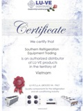 Certificate Authorized distributor of LUVE